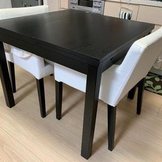 ✨イケア/ダイニングテーブル/椅子2脚無料