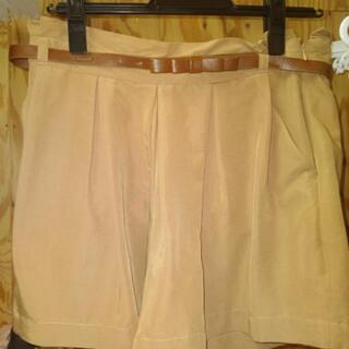 キュロットスカート。ベルト付き。