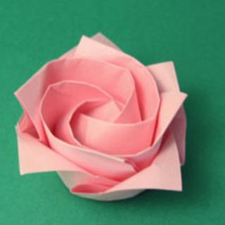 1分ローズ折紙講座 バレンタイン等でプレゼントに添えて