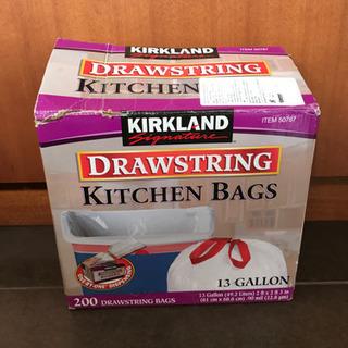 コストコ KIRKLAND ひも付きゴミ袋 キッチンバッグ
