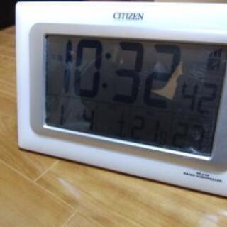 CITIZEN 掛&置 電波時計 500円でお譲りします