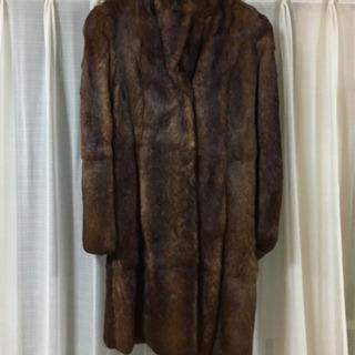 【美品】BOSCH イタリア製 ラビット毛皮コート