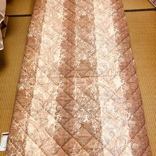 シングル敷布団 ペイズリー柄ピンク 羊毛布団