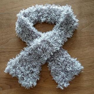 ふわふわ 手編みマフラー