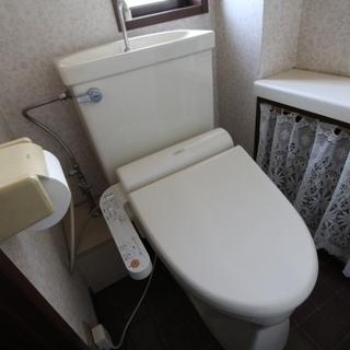 温水洗浄便座を致します。