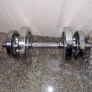 クロムメッキダンベル1.25kg+2.5kg *2
