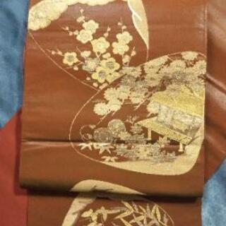 👘 正絹 袋帯 貝合わせ ★未使用美品