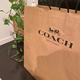 〈COACH SHOP BAG〉〈大きめ紙袋〉
