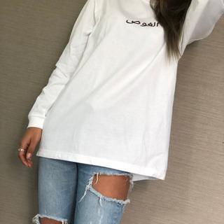tattoo designerデザインロングTシャツ  M