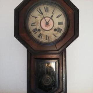 【アンティーク】 ぜんまい壁掛け時計 オーバーホール済 【完動品】