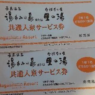 長島温泉 湯浴みの島ペアチケット
