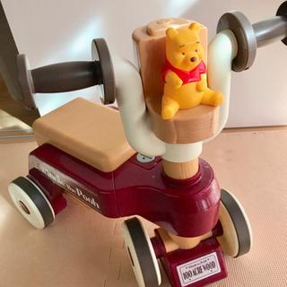 美品  くまのプーさん 室内三輪車