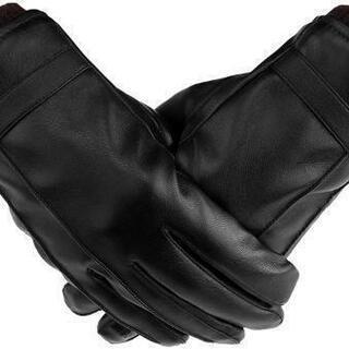 『新品未使用』手袋 PUレザー 革手袋 スマホ対応 メンズ グロ...