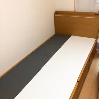 【引取者決定しました】収納付きシングルベッド/マットレス付(2/...