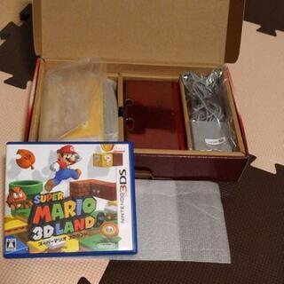※値下げ※【 任天堂3DS フレアレッド &ソフト付き】