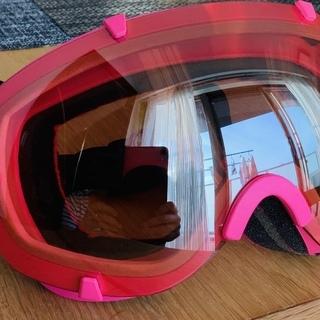 【美品】スノーボード/スキー ゴーグル northpeak ピンク