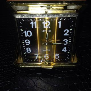 CITIZEN 旅行用 アラーム ゼンマイ時計