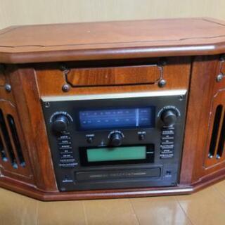 天然デジ録マルチレコードプレーヤー CD ラジオ カセット