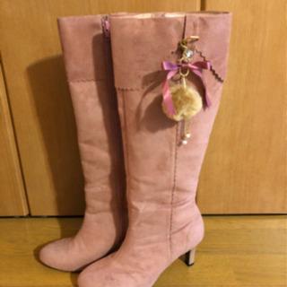 日本製 ピンクブーツ Lサイズ