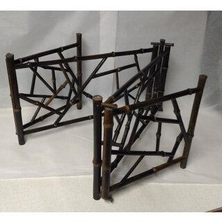 c499 結界 炉屏 竹造 氷裂 竹製 煎茶道具 茶道具