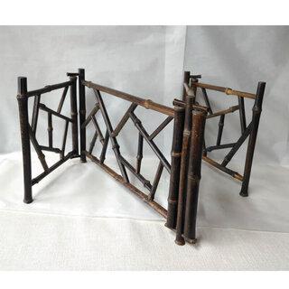 c500 結界 ② 炉屏 竹造 氷裂 竹製 煎茶道具 茶道具
