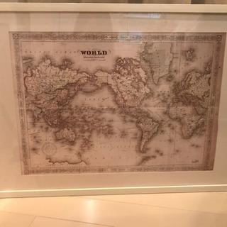 世界地図&ニトリポスターフレームb2サイズ