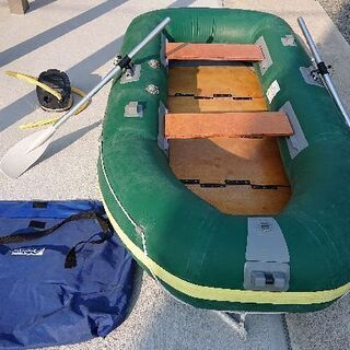 【商談中】ゴムボート、エレキ、エアポンプ、リペアキット一式