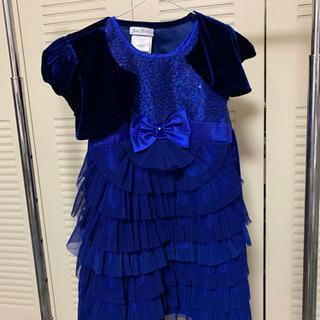 女の子 ドレス サイズ6 鮮やかな濃紺