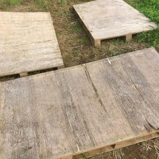 【神栖市筒井】木製パレットあげます 1〜12枚 無料 ベニヤ代用...