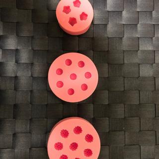 シリコン型 ラズベリー型、ブルーベリー型、イチゴ型