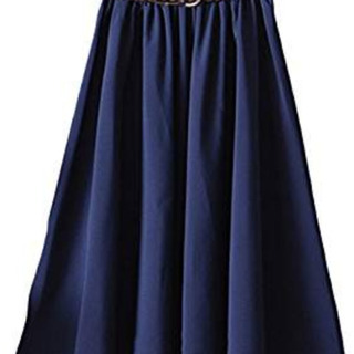 【新品】スカート Sサイズ ウエストゴム ベルト付き ネイビー