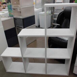 オープンシェルフ 階段型 オープンラック 木製 白 幅125㎝ ...