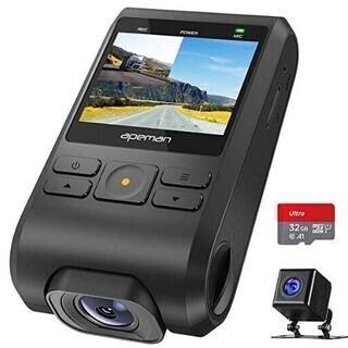 ドライブレコーダー APEMAN 前後カメラ 32Gカード付き ...