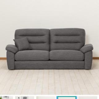ニトリ 3人用布張りソファー