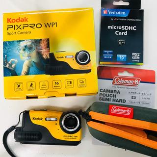Kodak 防水カメラ(保証残4年)+SD16GB+Colema...