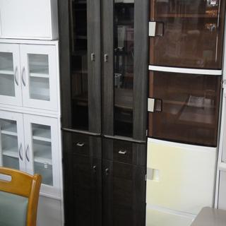 2枚扉食器棚 2ドアキッチンボード ダイニングボード 台所収納 ...