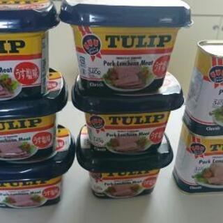チューリップ ポークランチョンミート  1缶=300円
