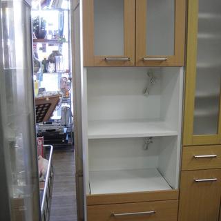 2枚扉レンジボード 2ドア 食器棚 キッチンボード 台所収納 ...