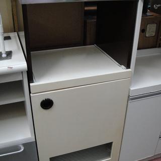レトロ レンジボード レンジ台 キッチンカウンター 家電収納 サ...