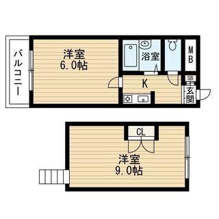 ❤初期費用17.000円❤2Kロフトタイプ❤大阪メトロ沿線