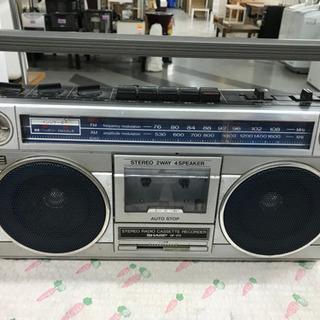 ラジオ付きステレオテープレコーダー GF-213【動作未確認】