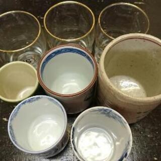 ブランド 湯のみ & アンティークガラスグラス 合計8個 セット