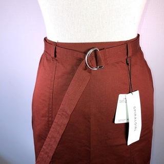 【新品SPIRAL GIRL】ブラウン*ベルト付スカート
