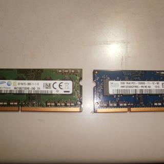 ノートPC用メモリ 2GB×2枚