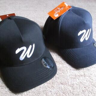帽子 ベースボールキャップ 新品未使用(2つセット)ブラック ネイビー