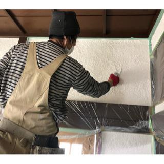 住宅の内部の壁、珪藻土に塗り替えます。6畳間で10万円くらいからです。