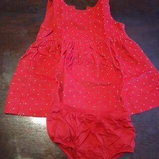 GAP 赤 80 ジャンパースカート