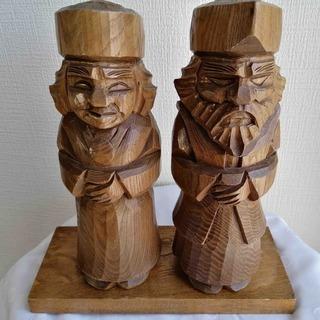 アイヌ民族 工芸品 ニポポ人形 木彫り 縁起物 中古