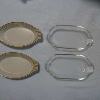 グラタン皿2種2枚づつ