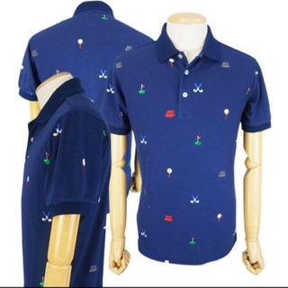 ジャックバニー メンズポロシャツ ゴルフ 濃紺 Lサイズ